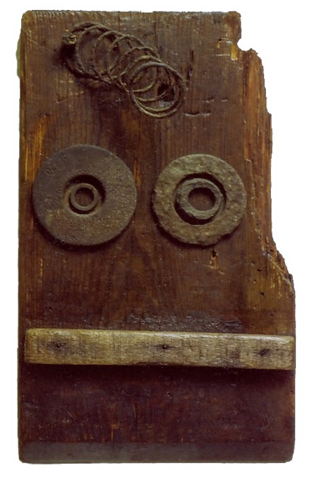 horst.2 1986 Holz-Metall-Relief 30,5 x 18 x 8,5